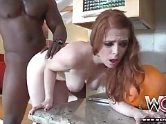 Redhead penny flame loves his black dick tubes