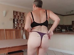 Granny sexpot models a brand new thong tubes