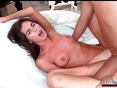 Tight pussy lips of naomi russell open for his dick tubes