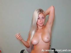 Bleach blonde camgirl has stunningly sexy tits tubes