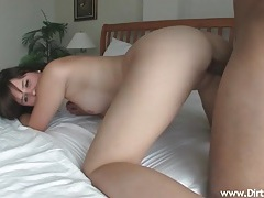 Amateur with pretty freckles fucked in her hot box tubes