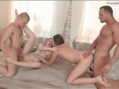 Lithe nude beauties fucked in a great foursome tubes