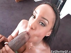 Stunningly hot black girl sandi jackmon sucks a dick tubes