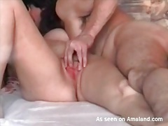 Couple films their lusty foreplay in bed tubes