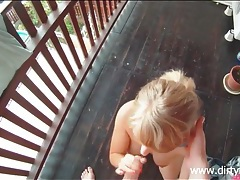 He takes a teen up to his place for a hot blowjob tubes