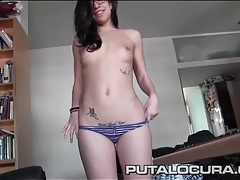 Nerd with a great body strips and sucks a dick tubes