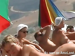 Voyeur on the beach films lots of hot ladies tubes
