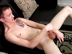 Sweet and skinny boy jerks off in the shower tubes