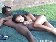Ebony sex in the grass with bbc inside her tubes