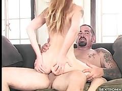 Big man ass fucks a tight little blonde chick tubes