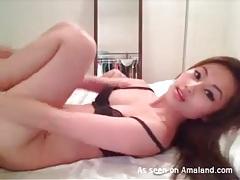 Breathtaking asian cam beauty masturbates tubes