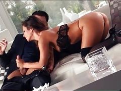 He seduces sexy eva lovia and she gives a bj tubes