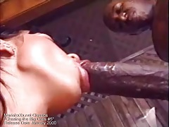 His black cock is so huge it barely fits inside her tubes