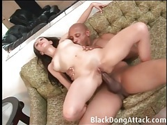 His bbc makes her hurt in a hot anal fuck tubes