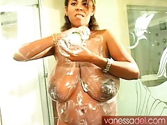 Whipped cream makes huge breasts look yummy tubes