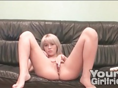 Wet pussy webcam girl has a good time with her toy tubes