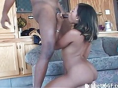 Cocksucking black girl bent over and butt fucked tubes