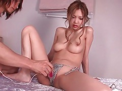 Snakeskin bikini looks amazing on a japanese girl tubes