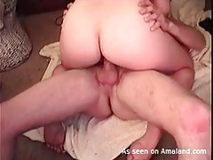 Homemade cock riding porn with his curvy wife tubes