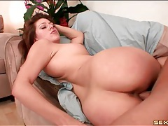 Big round ass on a hot babe riding cock tubes