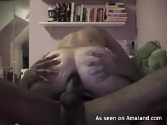Masked interracial couple makes anal porn tubes