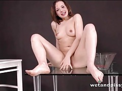 Olivia grace dumps a bowl of hot piss on her head tubes