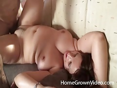 Fucking a chubby amateur and cumming on her tits tubes