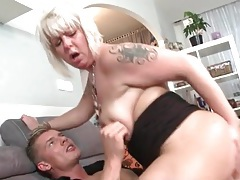 Fat mom grinding on cock with lusty passion tubes