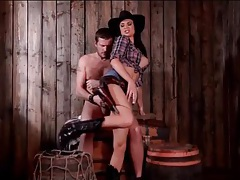 Horny cowgirl jasmine jae sits on a thick dick tubes