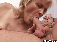 Granny looks good getting fucked in stockings tubes