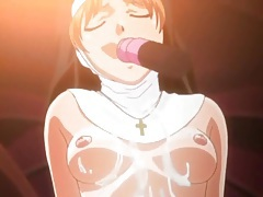Slutty cartoon nuns fucked in the church tubes