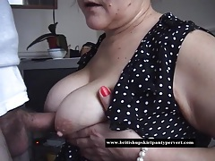 Mature housewife takes a huge oral cream pie tubes