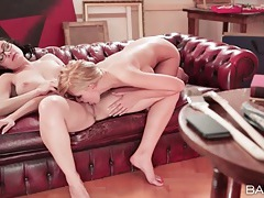 He walks in on lesbian sex and gets a blowjob tubes