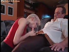 Amazing cock worshipper with short blonde hair tubes