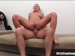 Pigtails girl takes his cock into her ass tubes