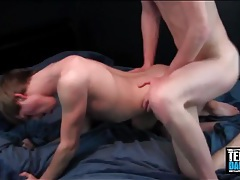 Bent over black ass eaten out and fucked doggystyle tubes