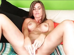 Milf gets naughty with all her dildos tubes