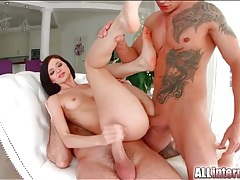 Pretty girl really wants a creampie in her ass tubes