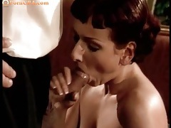 Thick uncut dick sucked by a busty euro slut tubes