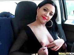 Latina slut jessica fuentes goes for a car ride tubes