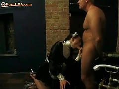 French maid sucks dick and gets fucked tubes