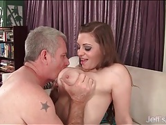 He loves playing with those big natural tits tubes