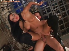 Dungeon sex with a kinky mistress and slave boy tubes