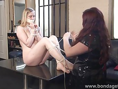 Blonde fetish babe satine spark tubes