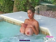 Pornstar minka wants to have fun in the hot tub tubes