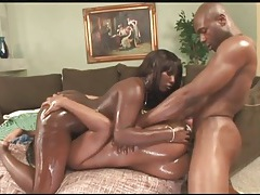 Oil coated black girls are perfect for ass fucking tubes