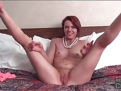 Sweet redhead wants to show how flexible she can be tubes