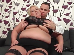 He has fun sucking on her bbw titties tubes