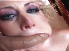 Whore led in by her hair and used by two guys tubes