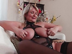 Kinky lingerie looks sexy on her bbw body tubes